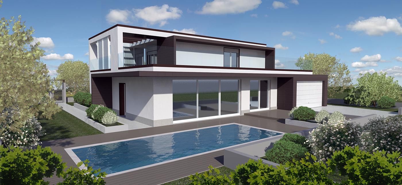 Habitat gfm abitare soluzioni costruttive con for Ville bifamiliari moderne