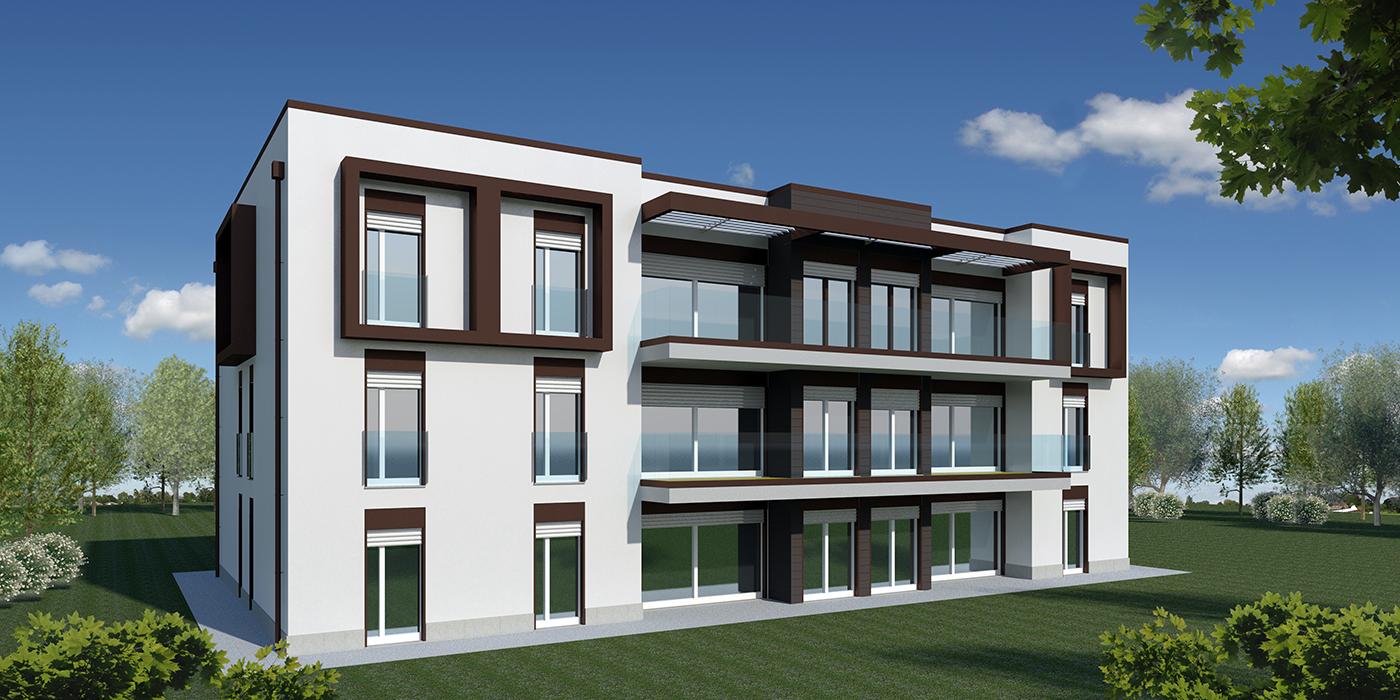 124 palazzine moderne palazzine residenziali moderne for Pavan arredamenti biancade